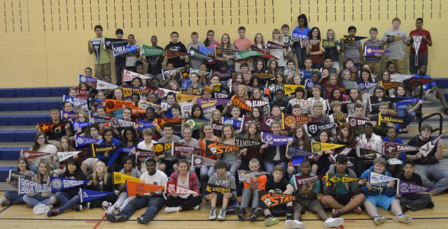 Shown are former students of mine participating in our College and Career Ready project in 2015.